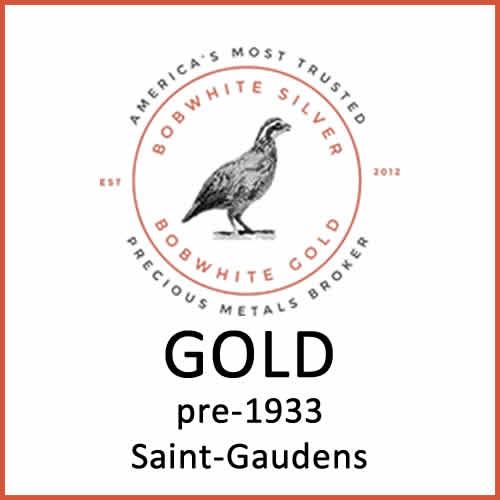 Gold pre-1933 Saint-Gaudens