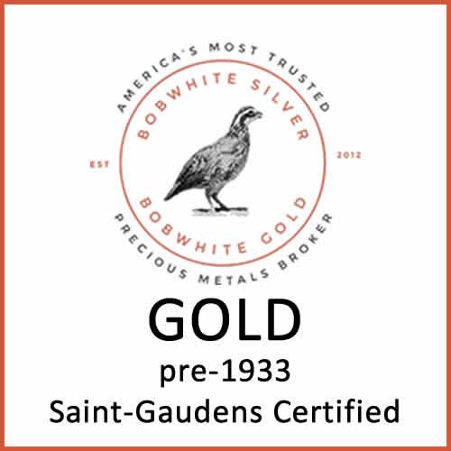 Gold pre-1933 Saint-Gaudens certified