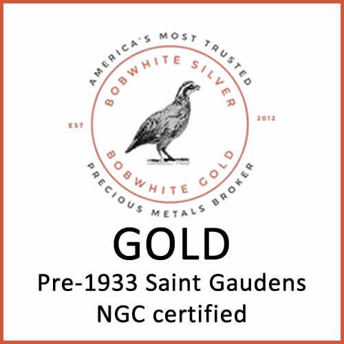 Gold pre-1933 Saint-Gaudens NGC certified