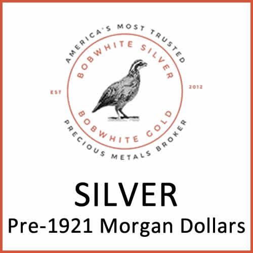 Silver pre-1921 Morgan Dollars