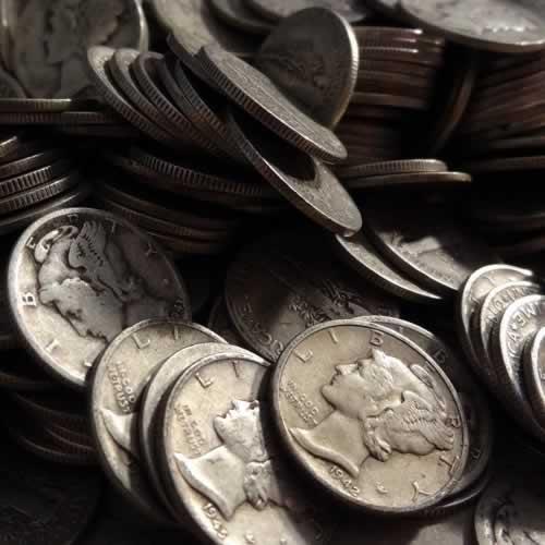 Silver 90% Mercury Dimes
