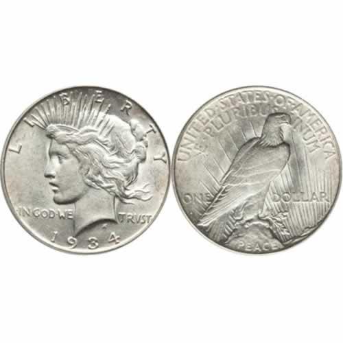 2302013-Peace-Dollars-AU-500-pieces